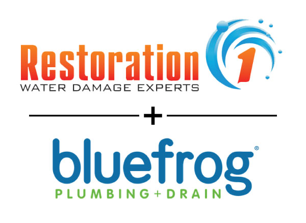 Restoration 1 franchise and bluefrog plumbing franchise logos