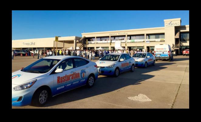 Fleet of restoration 1 cars